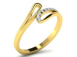 CVD Diamond Gold Ring