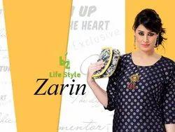 Zarin-Revaa Rayon Fancy Foil Print Kurtis