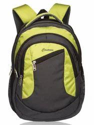 Grey &  Parrot Green Moon Laptop Backpack Bag