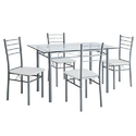 4 Seater Stainless Steel Dining Table