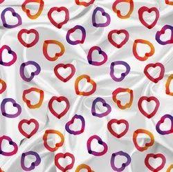 Heart Love Shape Kids Pattern Digital Printed Fabric