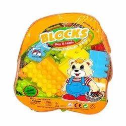 Non-Toxic Plastic Building Blocks Toy, Packaging Type: Plastic Bag