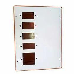 Bharat White and Orange 5 Slot PVC Switch Board