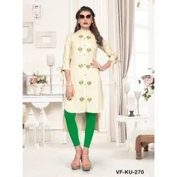 Party Wear Flax Cotton Kurti