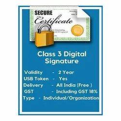 Class3 Digital Certificate Service