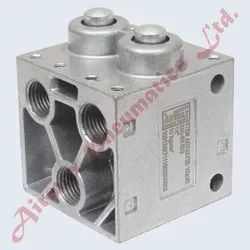5/2 Way Poppet Type Stem Actuated Valve
