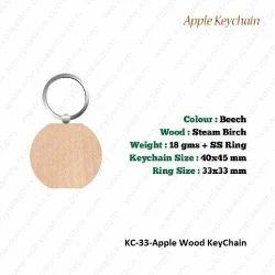 Wooden KeyChain-KC-33-Apple