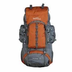 三极橙色徒步背包