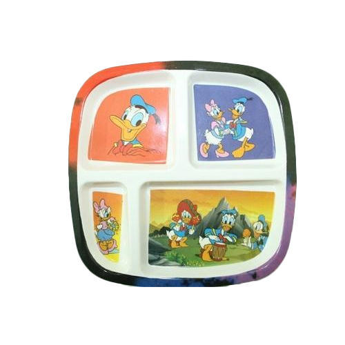 Plastic 4 Compartment Kids Dinner Plate  sc 1 st  IndiaMART & Plastic 4 Compartment Kids Dinner Plate Rs 33 /piece Induraj ...