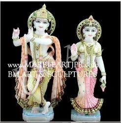 Handmade Marble Radha Krishna Statue
