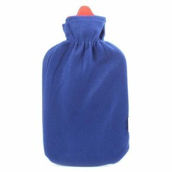 Rubber Blue, Red EQUINOX HOT WATER BOTTLE WITH COVER, Size: 1 L