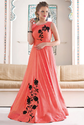 Bridal Red Silk Gown