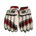 Red, White Ss Super Test Batting Gloves, Packaging Type: Box