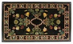 Marble Inlay Dining Table Top, Marble Pietra Dura