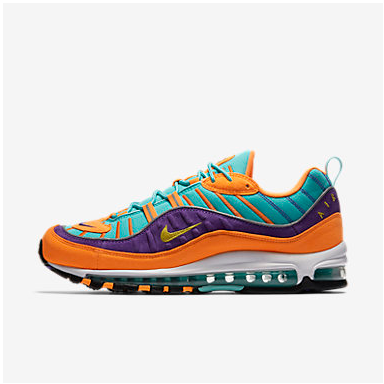 Cone And Hyper Grape Nike Air Max 98 Qs Shoe
