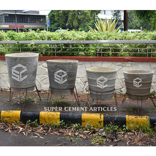 Circular Garden Pot Size Standard Super Cement Articles Id