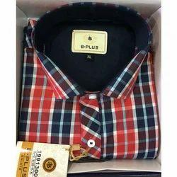 B Plus Cotton Designer Check Shirt