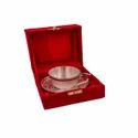Silver Plated Cup & Saucer Set