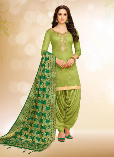 c14f8cd706 Unstitched Silk Gota Patti Work Punjabi Suits, Rs 1335 /piece | ID ...
