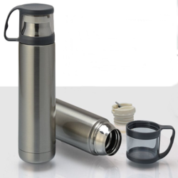 Double Wall Stainless Steel Flask with Cup