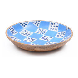 Soup Serving Wooden Enamel Resin Bowl