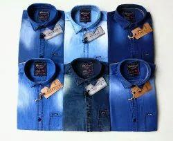Blue Bond Denim Men Shirts