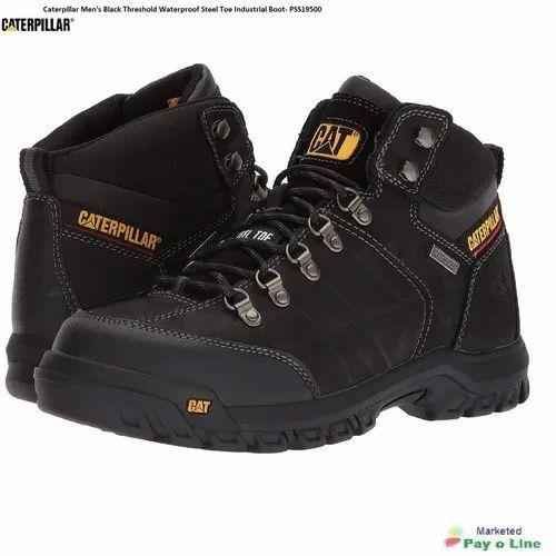 Caterpillar Men''s Black Threshold Waterproof Steel Toe Industrial Boot