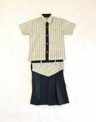 Shyamjee Girls School Uniform Shirt And Skirt