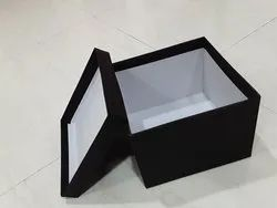 Cardboard Non Brand Black Rectangle Rigid Box, for Gift & Crafts