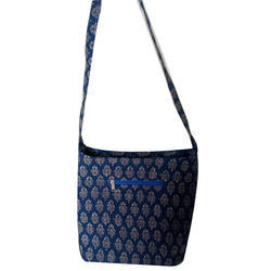 Blue Fabric Bag