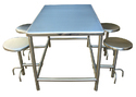 Rectangular Stainless Steel Canteen Table