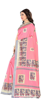 d54fda58ca5 Mysore Silk Party Wear Jaanvi Fashion Mysore Art Silk Saree Pink ...