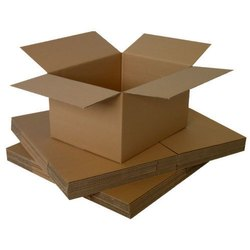 Brown Rectangular Ready made Paper Box For Packaging