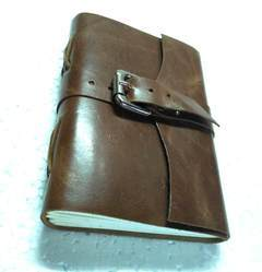 Rustic Genuine Leather Journal with Buckle Closer