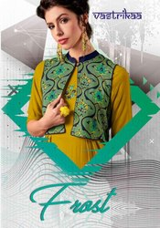 Vastrikaa Frost Series 2001-2008 Stylish Party Wear Rayon Kurti