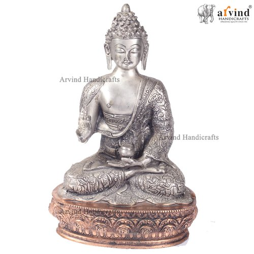 Arvind Handicrafts Antique Brass Buddha Statue for Worship