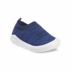 Kids Navy Blue Slip On Shoes