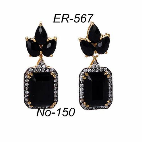 8404bac3329 PBC Anniversary And Engagement Black Stone Earring
