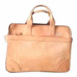 Nidhi Handicrafts Brown Leather Office Laptop Bag, Capacity: 2-3 Kg
