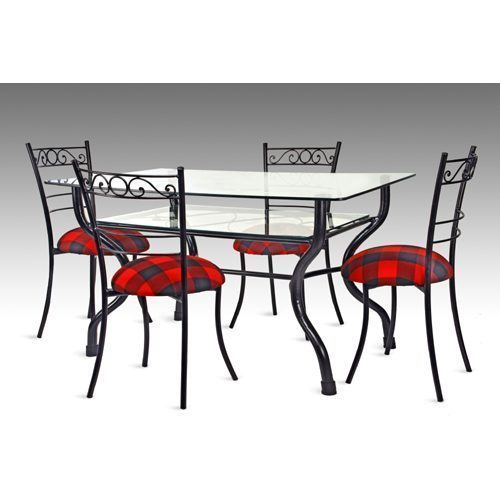 Captivating Iron Dining Table Set