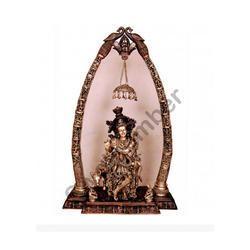Brass Arch Krishna With Cow