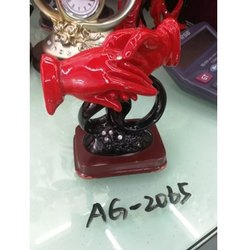 Red,Black Ceramic Couple Hand Showpiece, Model Name/Number: AG-2065, Packaging Type: Box
