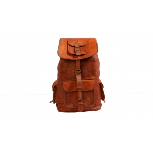 bad8aad34b Unisex Brown Leather Vintage Handmade Trendy Backpack Bag