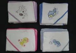 Embroidered 100% COTTON Hooded Towel, Size: 65 X 65 CMS, For Kids, Baby