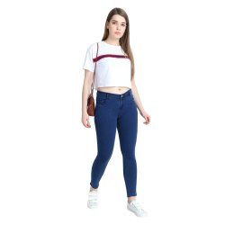 Ladies,Women And Girls Slim Zxn Women Blue Jeans