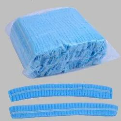 Blue Bouffant Cap, Size: 58 - 76 Cm, Packaging Type: Packet