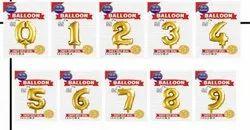 0 To 9 Foil Balloon
