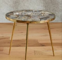 Tripod Agate Side Table