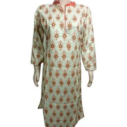Party wear M Khadi Cotton Hand Block Printed Kurti