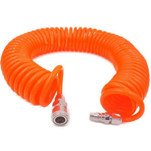 Orange Polyurethane Coiled Tube